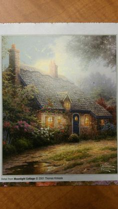 """Moonlight Cottage"" by Thomas Kinkade, 2001"