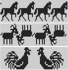 Free Fair Isle Knitting Pattern Charts A Double Knitting Patterns, Fair Isle Knitting Patterns, Bead Loom Patterns, Knitting Charts, Knitting Stitches, Knitting Designs, Cross Stitch Patterns, Knitting Ideas, Motif Fair Isle