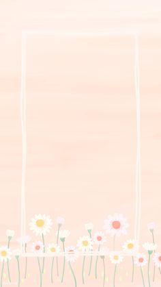 Rectangle daisy frame mobile phone wallpaper vector | premium image by rawpixel.com / manotang Framed Wallpaper, Flower Wallpaper, Wallpaper Backgrounds, Aztec Wallpaper, Iphone Backgrounds, Pink Wallpaper, Screen Wallpaper, Iphone Wallpapers, Rose Frame