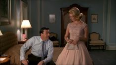 Mad Men Betty Draper Lace Boat Neck Blush Dress Season 2 ep 2For those Who think Young