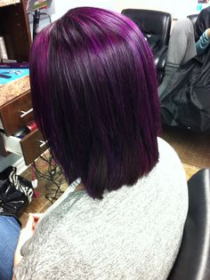 Joico Intensity indigo and magenta hair by Tammy Wojciechowski at innovative