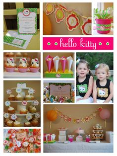 D wants a Hello Kitty birthday party.  Here are some great ideas, Hello Kitty fans!