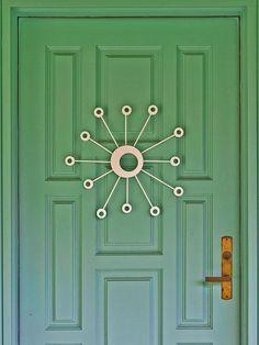 tradional meets mod, a modern style pannled door