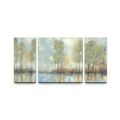 Studio 212 'Through the Mist' 30x60-inch Textured Canvas Triptych Art Print | Overstock.com Shopping - The Best Deals on Canvas