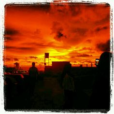 Sunset in Galle Face