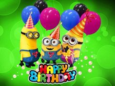 Telling the ones you love happy birthday and giving the best wishes for birthday has never been easier now with these 35 special Happy Birthday images for family and friends. Happy Birthday Minions Gif, Happy Birthday Kind, Happy Birthday Greetings Friends, Birthday Wishes For Kids, Happy Birthday Wishes Images, Happy Birthday Pictures, Happy Birthday Quotes, Happy Quotes, Image Minions
