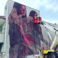 #milucorrech work in progress in Racale (LE). Wonderful street art!