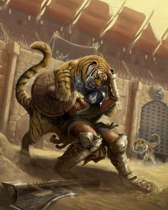 The Illustration, Concept art and Sculpture of Alexander Gustafson Gott Tattoos, Gladiator Fights, Gladiator Arena, Gladiator Tattoo, Tiger Sketch, Roman Gladiators, Composition Art, Roman Soldiers, Conan The Barbarian