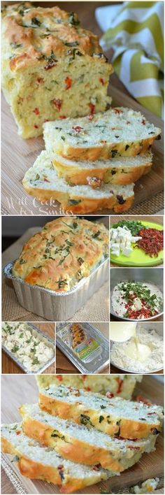 Recipe for Savory Caprese Bread. It& soft and flavorful bread that is perfect as a side of for sandwiches. Bread Machine Recipes, Bread Recipes, Baking Recipes, Bread And Pastries, Dinner Rolls, Bagels, Donuts, The Best, Brunch