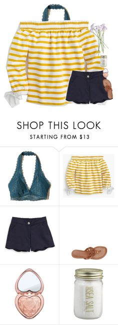 """""""Goodmorning lovelies!"""" by mac-moses ❤ liked on Polyvore featuring Hollister Co., J.Crew, Oscar de la Renta, Tory Burch and Crate and Barrel"""