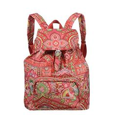 Oilily Spring Ovation Folding Classic #Backpack in Raspberry  Price : $68.00 http://www.whimsicalumbrella.com/Oilily-Ovation-Folding-Backpack-Raspberry/dp/B00H27FITC