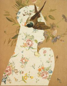 """amare-habeo: """"Eileen Agar (Brazilian-British, 1904-1991) - Head with Bird (Tête à l'oiseau), 1939 """""""