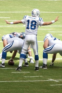 Indianapolis Colts led by Peyton Manning. Oh football pants.