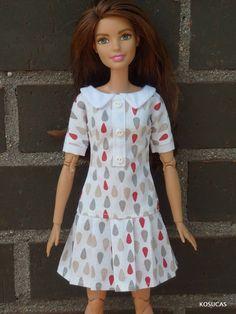Dress for Barbie and Poppy Parker dolls. por Kosucas en Etsy
