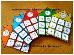 "#ABN Cada ""familia"" en su casita Kindergarten Math, Teaching Math, Math Games, Preschool Activities, John Kennedy Jr, Math Numbers, Math For Kids, Kids Education, Math Lessons"