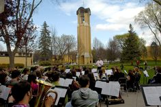 Great shot from Friday's #cordmn Earth Day concert at the Bell Tower.