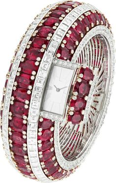 VAN CLEEF & ARPELS Ruby Bangle Watch
