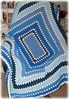 Rectangle Granny Afghan, made a few of these years ago but forgot about them will have to do again, but not in these colors