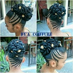 Flat Twisted updo by Ekua African Braids Hairstyles, Twist Hairstyles, Simple Hairstyles, Popular Hairstyles, Black Hairstyles, Latest Hairstyles, Natural Hair Updo, Natural Hair Styles, Twisted Hair