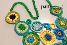 crochet necklace, sea glass beads, @Valeria Buccheri valeria buccheri