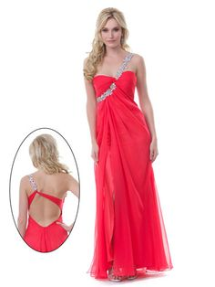 Red Open Back Prom Dress - Red Prom Dresses - Seventeen