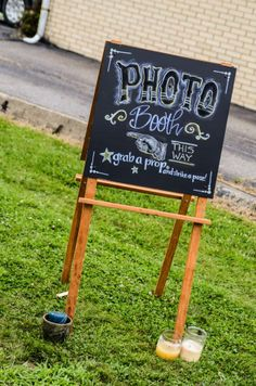 Photo booth chalkboard sign