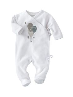 Newborn Pyjamas Dusky pink+Grey-teal+White with nifty nappy access