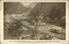 Bird's-eye View of Town, Coalwood, McDowell County, West virginia.  Looking Northeast over the Business Part of Town. Postmarked May 5, 1911.