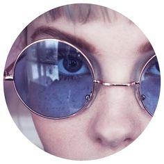 Blue Lennon. #sunettes #sunglasses #round