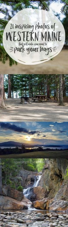 Maine travel [USA] | New England travel | Planning a vacation to Maine? Check out these 21 gorgeous photos of scenery in western Maine for some inspiration! @roamtheamericas