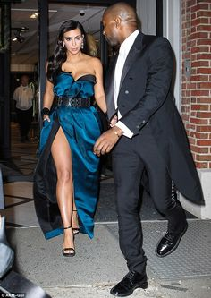 Can't keep his eyes off her: Kanye West and Kim Kardashian heading to the Met Gala in New ...