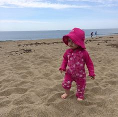 """Even in Maine we need uv protection!! Love our UV Skinz"" -Rachel via UV Skinz Facebook Page. Thank you for sharing Rachel!! She is too cute in her Sun Protective Baby Sun Suit!"