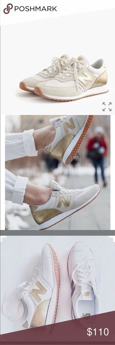 Gold new balance tennis shoes Gold new balance tennis shoes 6.5 excellent used condition, scotch guard protected New Balance Shoes Sneakers