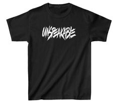 Unspeakable Kids Children T-shirt Youtuber Funny Savage Boys Girls Top T Shirt