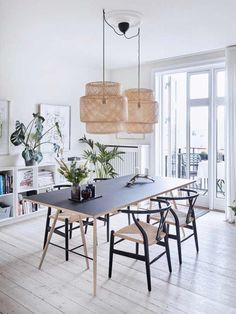 Beautiful Scandinavian Dining Room Design Ideas - This short article includes a number of quick suggestions to look for when scouting for the seating for your dining area in your house. Ikea Dining Room, Dining Room Lighting, Dining Room Sets, Dining Room Design, Ikea Lighting, Lamps For Living Room, Lighting Stores, Table Lighting, Modern Lighting