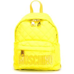 Designer Clothes, Shoes & Bags for Women Women's Mini Backpack, Yellow Backpack, Backpack Bags, Leather Backpack, Leather Bags, Quilted Bag, Quilted Leather, Fashion Handbags, Fashion Bags