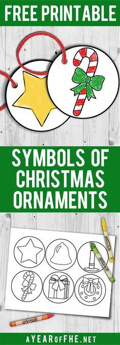 Christian Christmas Symbol Printables Christmas Pinterest