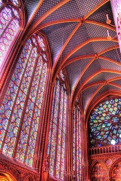 Saint Chapelle - HDR - Paris, France
