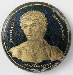 Medallion with a Portrait of Gennadios dated 250-300 Geography: Made in, Alexandria, Egypt Culture: Roman...part of Medieval Art and The Cloisters