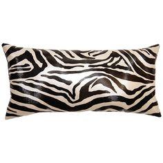 Square Feathers On The Move Zebra Throw Pillow SFOTMZEBRA