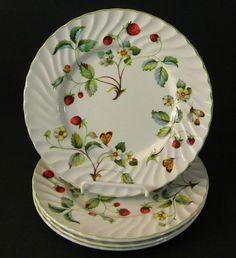 Vintage James Kent Old Foley Strawberry Salad Plates