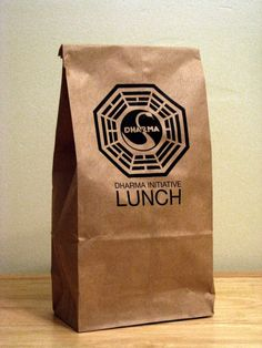 5 - LOST TV Show - Dharma Initiative Parody Lunch Bags