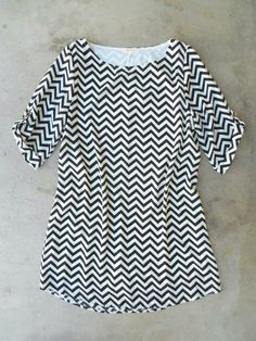 The Chic Everly Zig Zag Shift Dress <3 #pearldetail