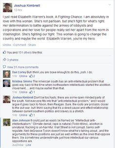 On Elizabeth Warren