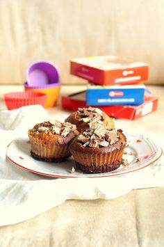 pieczone truskawki: Muffinki z nutellą