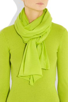 Michael Kors  fluorescent cashmere scarf