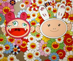 As I mentioned in the Master animation Research class last Thursday, the artist who inspires me when it comes to minimalistic graphic art is the infamous Japanese artist: Takashi Murakami. In succe… Superflat, Takashi Murakami Art, Murakami Artist, Murakami Flower, Postmodern Art, Canvas Wall Art, Canvas Prints, Otaku, Ideas