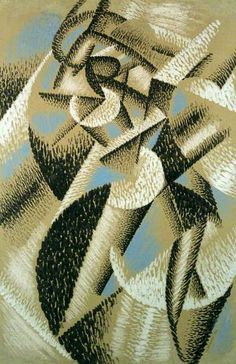 Dancer (Ballerina + Sea)  Gino Severini, 1913. Sus obras se volvieron paulatinamente más sólidas y volumétricas.
