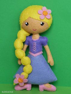 Kosucas ||| Rapunzel, Tangled, princess, Disney, felt, fabric, sew, plush, toy, doll