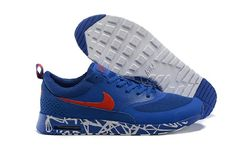 competitive price 6e98f 22f8d Hot Special Cheap Nike Air Max 90 87 Thea Print Carve Royal Blue Orange  Mens Shoes